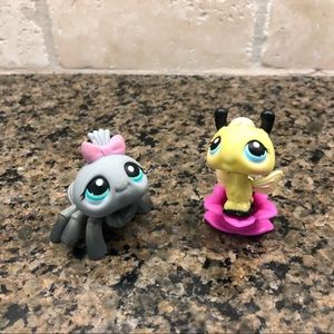 Littlest Petshop LPS Bumblebee and Gray Spider